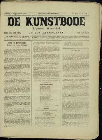 De Kunstbode (1880 - 1883) 1881-09-04