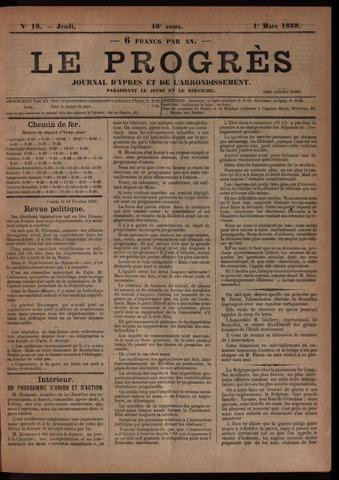 Le Progrès (1841-1914) 1888-03-01