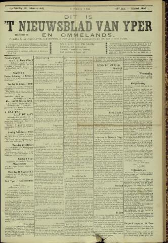Nieuwsblad van Yperen en van het Arrondissement (1872 - 1912) 1905-02-18