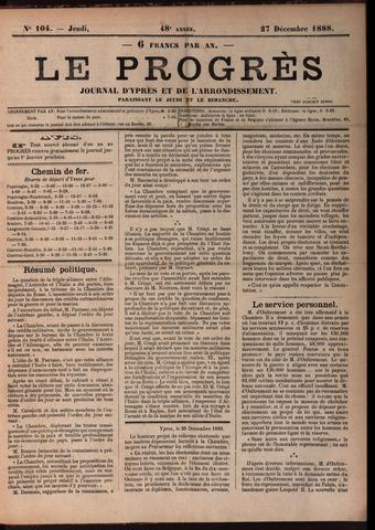 Le Progrès (1841-1914) 1888-12-27