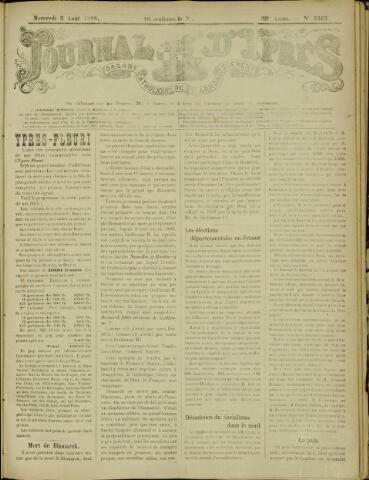 Journal d'Ypres (1874 - 1913) 1898-08-03