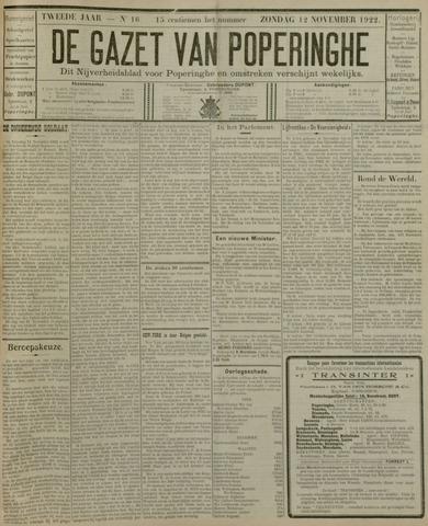 De Gazet van Poperinghe  (1921-1940) 1922-11-12