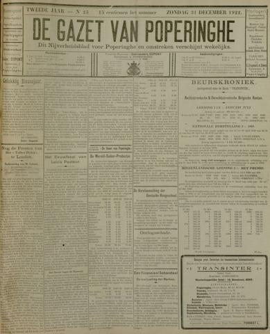 De Gazet van Poperinghe  (1921-1940) 1922-12-31