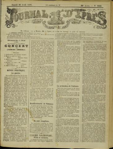 Journal d'Ypres (1874 - 1913) 1898-04-30