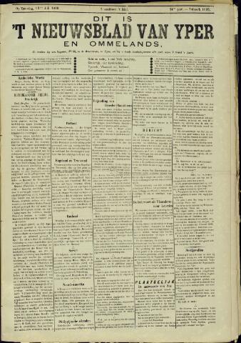 Nieuwsblad van Yperen en van het Arrondissement (1872 - 1912) 1899-07-15