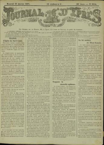 Journal d'Ypres (1874 - 1913) 1897-01-27