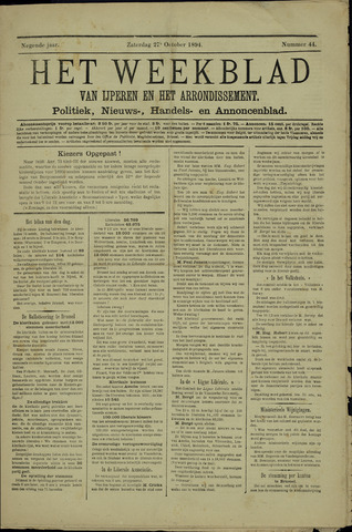 Het weekblad van Ijperen (1886 - 1906) 1894-10-27