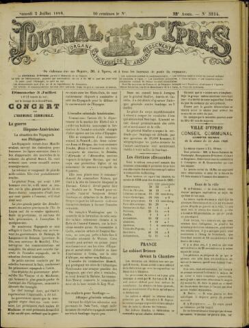 Journal d'Ypres (1874 - 1913) 1898-07-02
