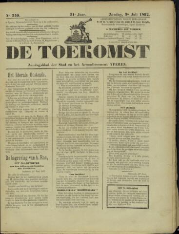 De Toekomst (1862 - 1894) 1892-07-03