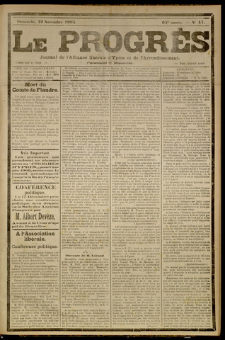 Le Progrès (1841-1914) 1905-11-19