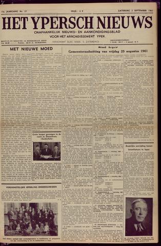 Het Ypersch nieuws (1929-1971) 1961-09-02