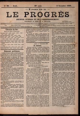 Le Progrès (1841-1914) 1888-11-08
