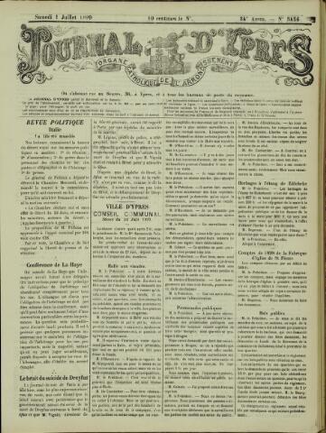 Journal d'Ypres (1874 - 1913) 1899-07-01