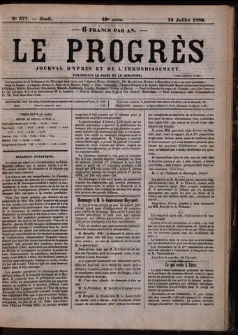 Le Progrès (1841-1914) 1880-07-15