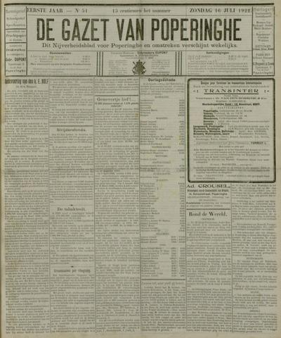 De Gazet van Poperinghe  (1921-1940) 1922-07-16