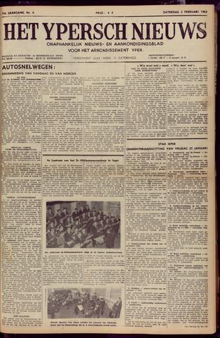 Het Ypersch nieuws (1929-1971) 1963-02-02