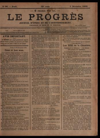 Le Progrès (1841-1914) 1892-12-01