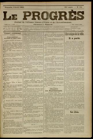 Le Progrès (1841-1914) 1905-04-02