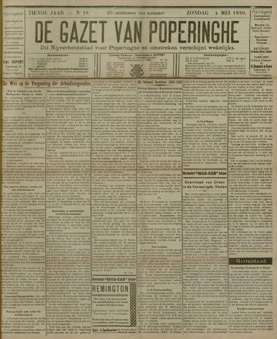 De Gazet van Poperinghe  (1921-1940) 1930-05-04