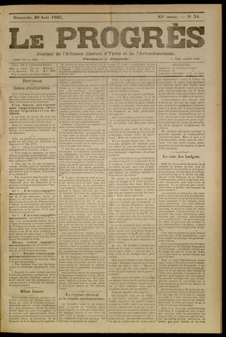Le Progrès (1841-1914) 1905-08-20