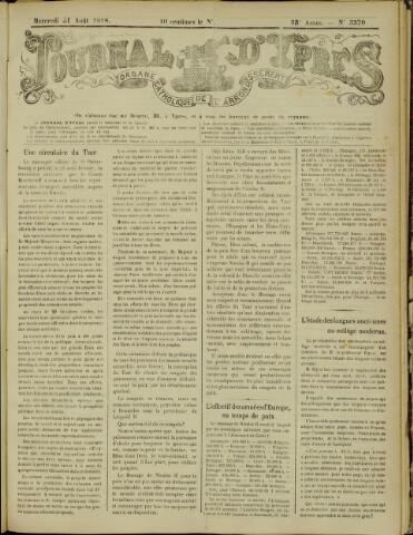Journal d'Ypres (1874 - 1913) 1898-08-31