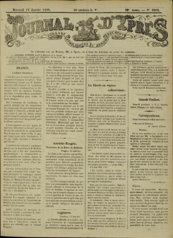 Journal d'Ypres (1874 - 1913) 1898-01-12