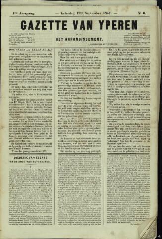 Gazette van Yperen (1857-1862) 1857-09-06