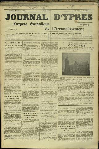 Journal d'Ypres (1874 - 1913) 1912-11-09