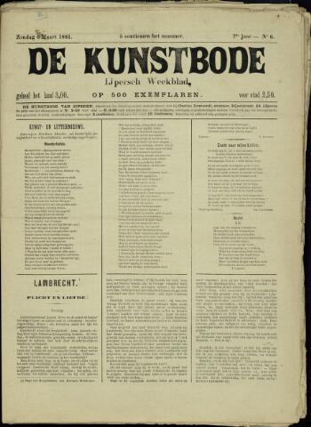 De Kunstbode (1880 - 1883) 1881-03-06