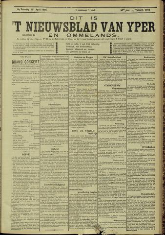 Nieuwsblad van Yperen en van het Arrondissement (1872 - 1912) 1905-04-22
