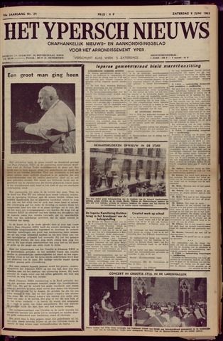 Het Ypersch nieuws (1929-1971) 1963-06-08