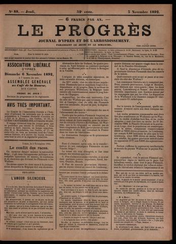 Le Progrès (1841-1914) 1892-11-03