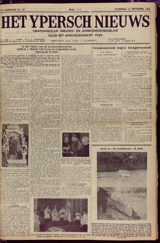 Het Ypersch nieuws (1929-1971) 1962-09-15