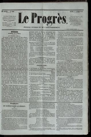 Le Progrès (1841-1914) 1847-04-01