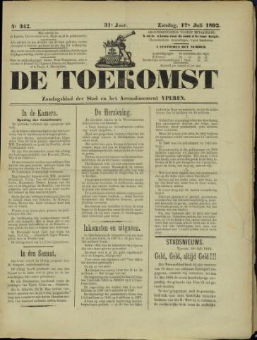 De Toekomst (1862 - 1894) 1892-07-17