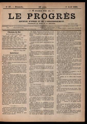 Le Progrès (1841-1914) 1888-04-01