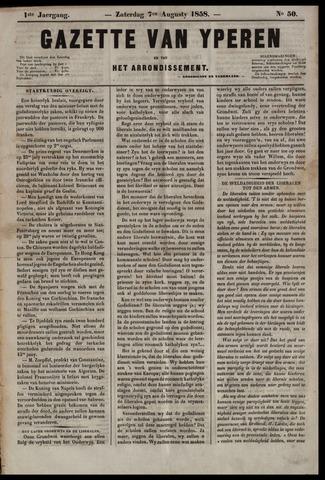 Gazette van Yperen (1857-1862) 1858-08-07