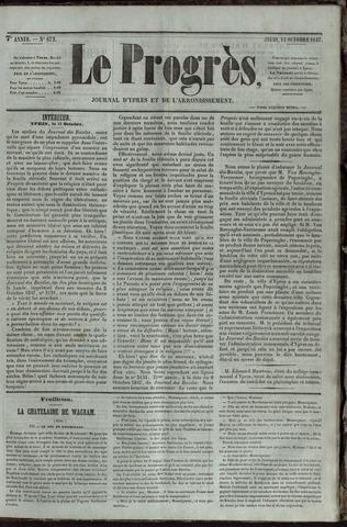 Le Progrès (1841-1914) 1847-10-14