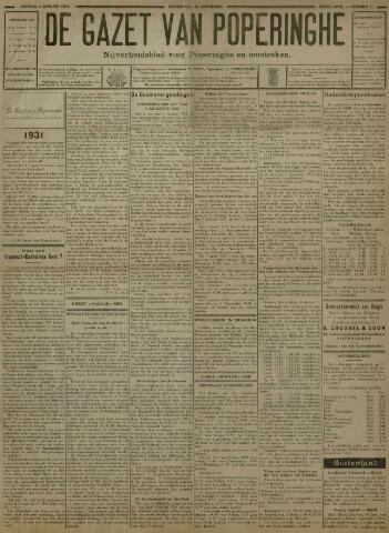 De Gazet van Poperinghe  (1921-1940) 1931-01-04