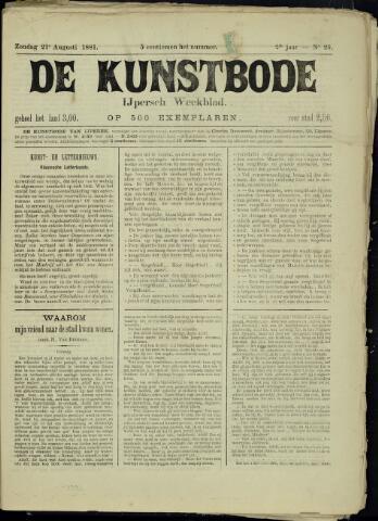 De Kunstbode (1880 - 1883) 1881-08-21