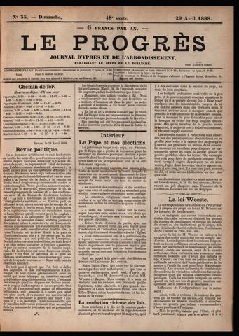 Le Progrès (1841-1914) 1888-04-29