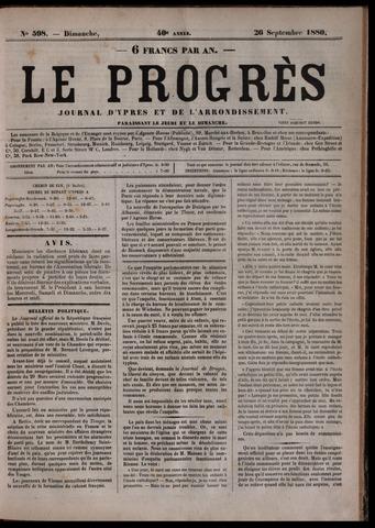 Le Progrès (1841-1914) 1880-09-26