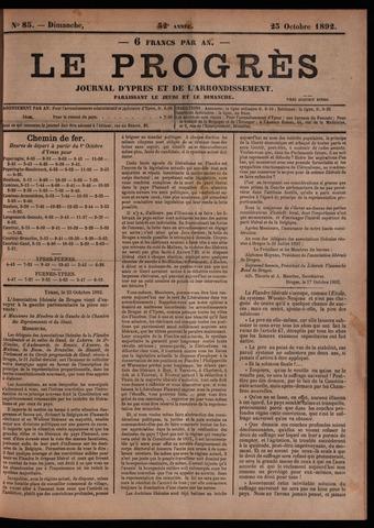 Le Progrès (1841-1914) 1892-10-23