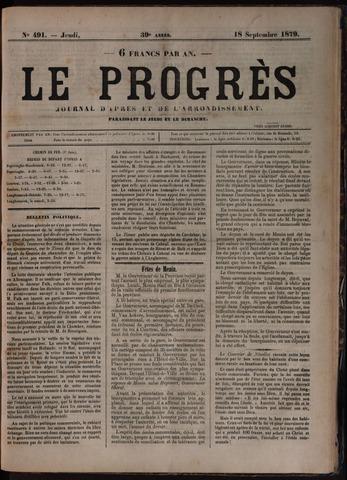 Le Progrès (1841-1914) 1879-09-18