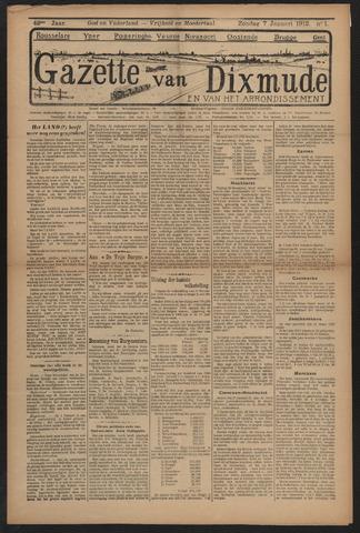 Gazette van Dixmude 1912-01-07