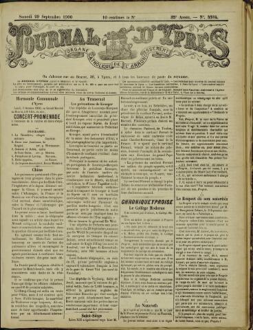 Journal d'Ypres (1874 - 1913) 1900-09-29
