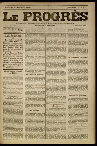 Le Progrès (1841-1914) 1905-09-24
