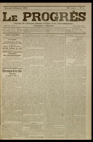 Le Progrès (1841-1914) 1905-01-22