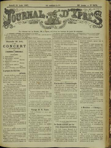 Journal d'Ypres (1874 - 1913) 1897-08-21