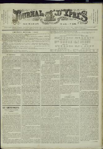 Journal d'Ypres (1874 - 1913) 1877-04-28